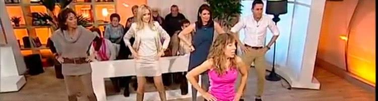 Clase de Baile Fitness en el programa Sin ir más lejos de Aragón TV