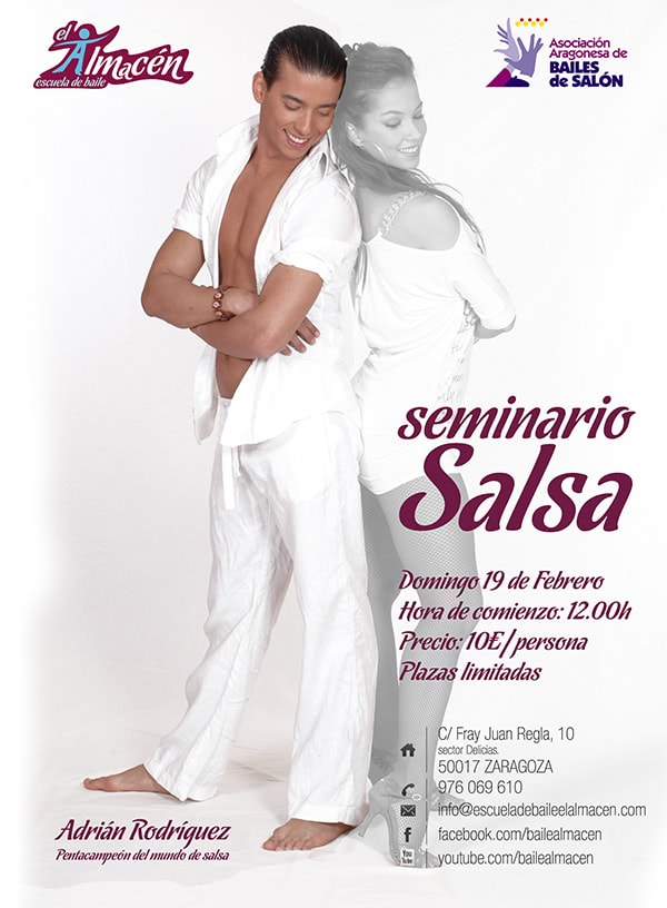I Masterclass de Pasos Libres de Salsa de Adrián y Anita