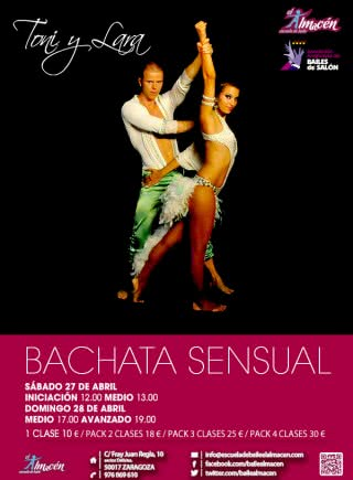 II Masterclass bachata sensual con Toni y Lara