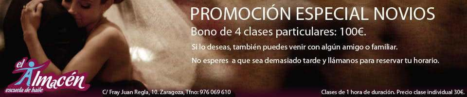 Promocion Baile Novios. Escuela de Baile el Almacén