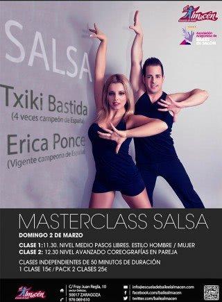 Masterclas Txiki Bastida y Erica Ponce en Escuela de Baile el Almacén