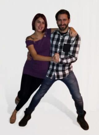 Dani y Eva, profesores de kizomba en Escuela de Baile el Almacén