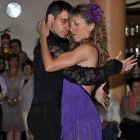 Exhibición de bailes de salon en Calatorao