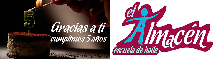 Fiesta del 5º Aniversario de la Escuela de Baile el Almacén, Zaragoza.