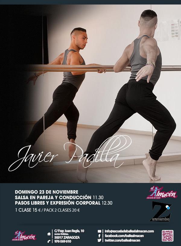Cartel de la Masterclass de Javier Padilla