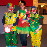 Alumnos de la escuela de baile el Almacén, en la fiesta de carnaval 2015.