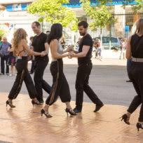 Exhibición de Bachata sensual de Escuela de Baile el Almacén en Zaragoza