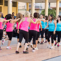 Exhibición de Baile Fitness de la EScuela de Baile el Almacén en Zaragoza