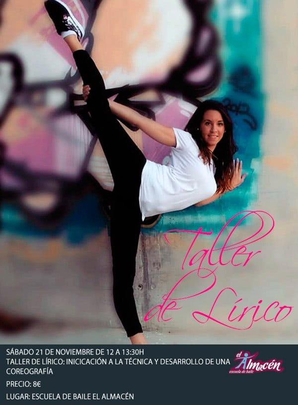 I Taller de lírico en Escuela de Baile el Almacén en Zaragoza