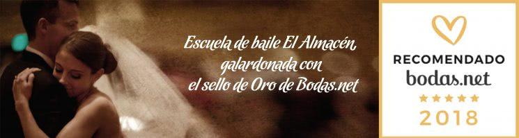 Escuela de Baile El Almacén, galardonada con el sello de Oro de Bodas.net